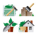 Landscaping icons  Stock Photography