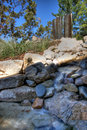 Landschaftsarbeits-Wassermerkmal Stockfoto