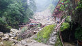 Landslide destroy buildings distroyed by located in sichuan china Royalty Free Stock Image