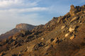 Landslide after earthquake in crimean mountains Stock Photography