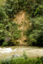 Landslide and erosion in jungle Stock Photos