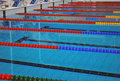 Lane lines of a swimming pool Royalty Free Stock Photo