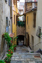 A lane in Montepulciano Royalty Free Stock Photo