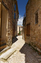 Lane in old town stony little village gigondas provence Stock Image
