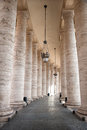 Lane of vatican columns between a row in the famous landmark in the city rome italy Stock Photography