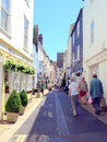 The lanes dartmouth devon quaint and shops in backstreets of england uk Royalty Free Stock Photo