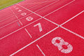Lanes of running track Royalty Free Stock Images