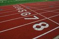 Lanes on running track Royalty Free Stock Photos