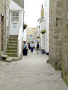 The lanes st ives cornwall narrow that fill town of england uk Royalty Free Stock Image