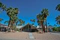 Lang Schot van Zwitserse Misser House in Palm Springs Royalty-vrije Stock Afbeeldingen