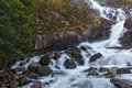 Langfoss waterfall norway detail of lovely Royalty Free Stock Photography