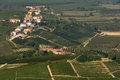 The langhe panoramic view of vineyards in Royalty Free Stock Image