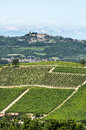 Langhe vineyards asti cuneo piedmont italy landscape at summer with Stock Photo