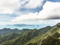 Langkawi and the andaman sea mountainous landscape of island of with in background malaysia Royalty Free Stock Photography