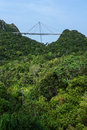 Langkawi cable car skybridge on the island in malaysia with the forest and blue sky Stock Image