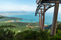 Langkawi hills cable car geopark in malaysia Royalty Free Stock Images