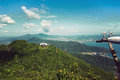 Langkawi hills cable car geopark in malaysia Stock Images