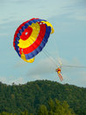 Langkawi Malaysia. Parasailer about to Land Stock Photo