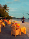 Langkawi. Openair Beach Restaurant Sea View Royalty Free Stock Photo