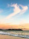 Langkawi sunset over pantai beach cenang in a popular resort island of malaysia Royalty Free Stock Photos