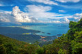 Langkawi viewpoint the landscape of seen from cable car Royalty Free Stock Photo