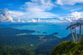 Langkawi viewpoint the landscape of seen from cable car Royalty Free Stock Photos