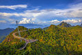 Langkawi viewpoint the landscape of seen from cable car Stock Photo