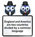 Language british and american differences isolated on white background Royalty Free Stock Image