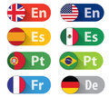 Language Buttons Royalty Free Stock Photo