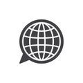 Language icon vector