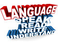 Language to speak read write and understand learning concept Royalty Free Stock Photography