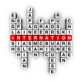 Languages crossword Royalty Free Stock Image