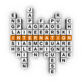 Languages crossword Royalty Free Stock Photos