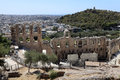 Lanscape of ancient Odeon of Herodes Atticus Stock Photo