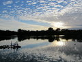 Lanscape nature clouds and skies lakes and rivers Royalty Free Stock Photo