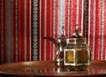 Lantern and arabic teapot Royalty Free Stock Photo