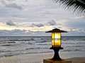 Lantern at the beach 1 Royalty Free Stock Photo