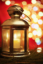 Lantern with blur light Royalty Free Stock Photos