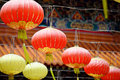 Lantern in chinese temple Royalty Free Stock Photography