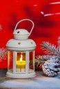 Lantern and Christma tree Royalty Free Stock Photo