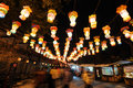 Lantern festival  in jinli old street Royalty Free Stock Image
