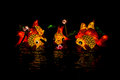 Lantern fish at lantern festival figure of is hatyai in songkhla province thailand Stock Photography