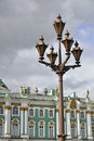 Lantern in front of Winter Palace in St.Petersburg Royalty Free Stock Photography