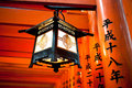 Lantern at Fushimi Inari Torii Kyoto Japan Stock Images