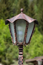 Lantern for garden a vintage street located in bucharest romania Royalty Free Stock Photo