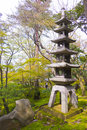 Lantern in Kenroku-en gardens Royalty Free Stock Photo