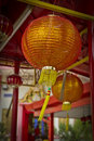 A lantern lamp at the wat chaiya mangkalaram thai buddhist temple in penang malaysia Stock Photography