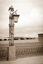 Lantern on the Neva River Royalty Free Stock Photography