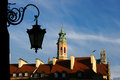 Lantern in old town in warsaw poland Stock Image