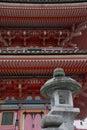 Lantern Outside Pagoda, Kiyomizudera Temple Royalty Free Stock Photo